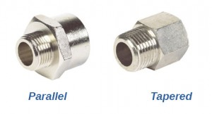 Parallel Threaded and Taper Threaded Hydraulic Fittings
